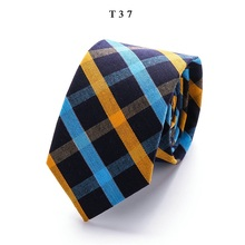 New Classic Cotton Mens Ties Design Narrow Neckties 6cm Slim Lattice for Men Formal Business Wedding Party Gravatas
