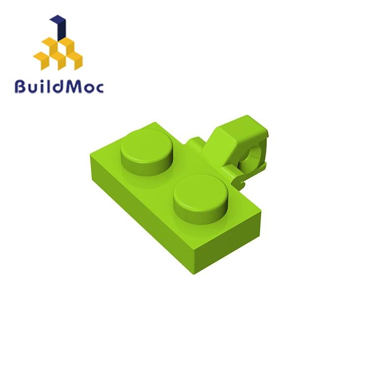 BuildMOC  44567 Hinge Plate 1x2   For Building Blocks Parts DIY LOGO Educational Creative Gift Toys