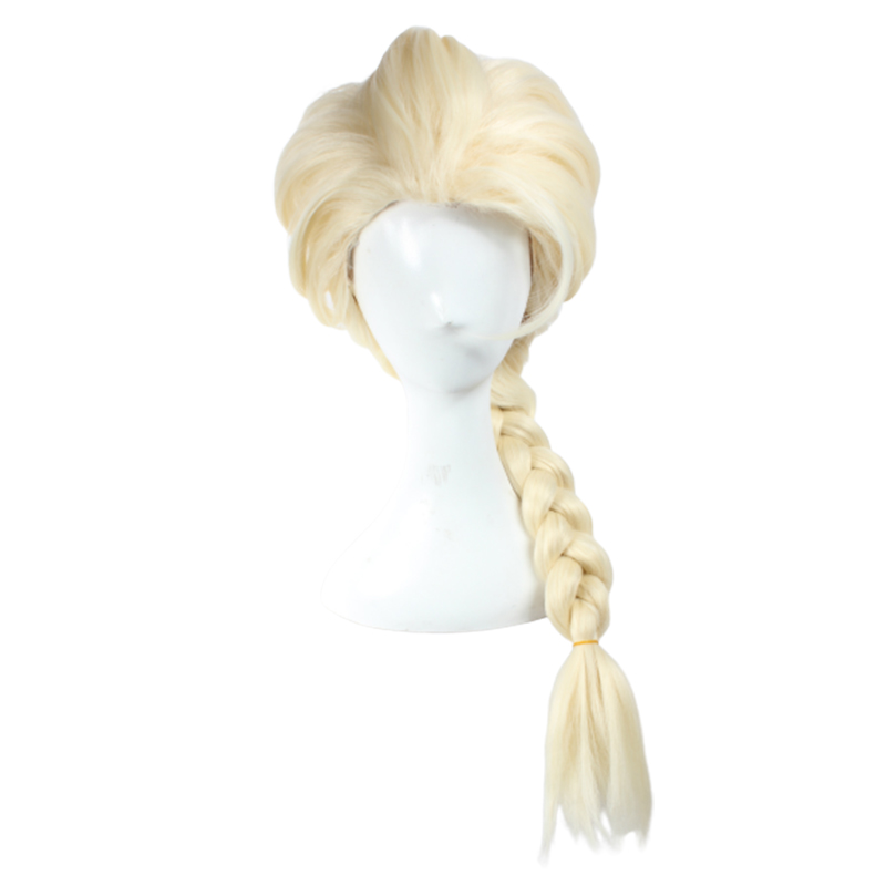 Cossky Elsa Cosplay Wig Weaving Braid Light Blonde Cosplay Wig