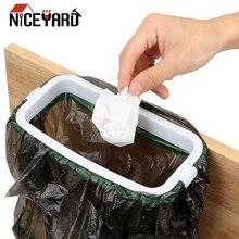 Bag-Holder Kitchen-Tools Rubbish Household NICEYARD Back-Trash-Rack Hangable Cupboard-Door