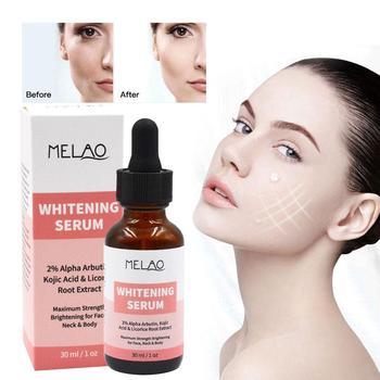 MELAO suero blanqueador para piel orgánico 2% alfa Arbutina ácido hidratante blanqueamiento...