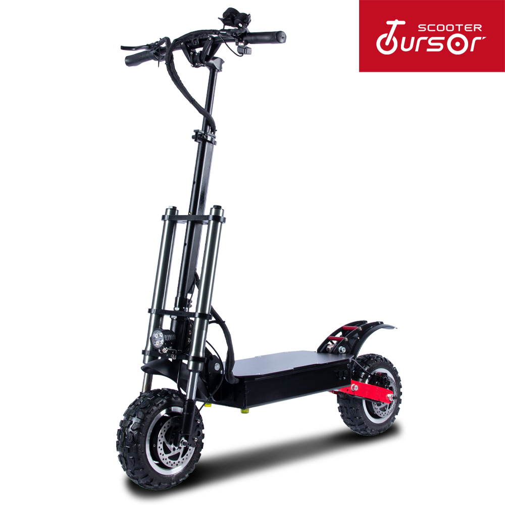 Powerful <font><b>Electric</b></font> <font><b>Scooter</b></font> 60V5600W 11inch Off Road Fat tire Dual <font><b>Motor</b></font> <font><b>Wheel</b></font> e <font><b>scooter</b></font> Foldable Adults <font><b>Scooters</b></font> Long Hoverboard image