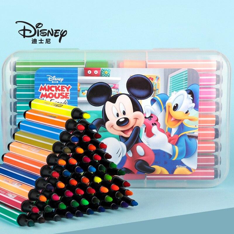 12/24/36 color Disney seal watercolor pen cute Mickey painting color pen children graffiti coloring pen cartoon seal gift