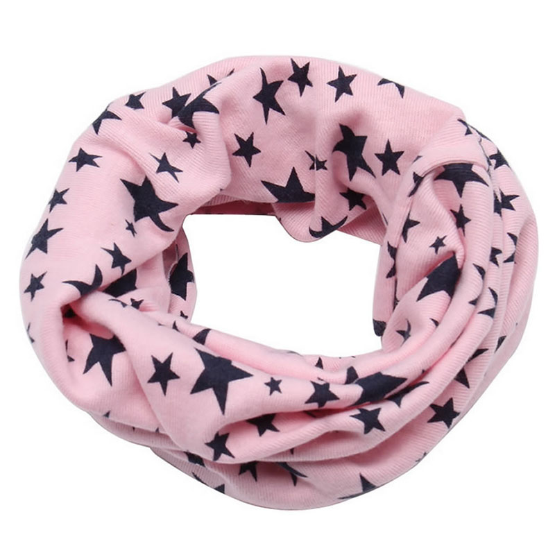 New Winter Warm Boys Girls Collar Baby Scarf Children Stars O Ring Neck Scarves LX9E