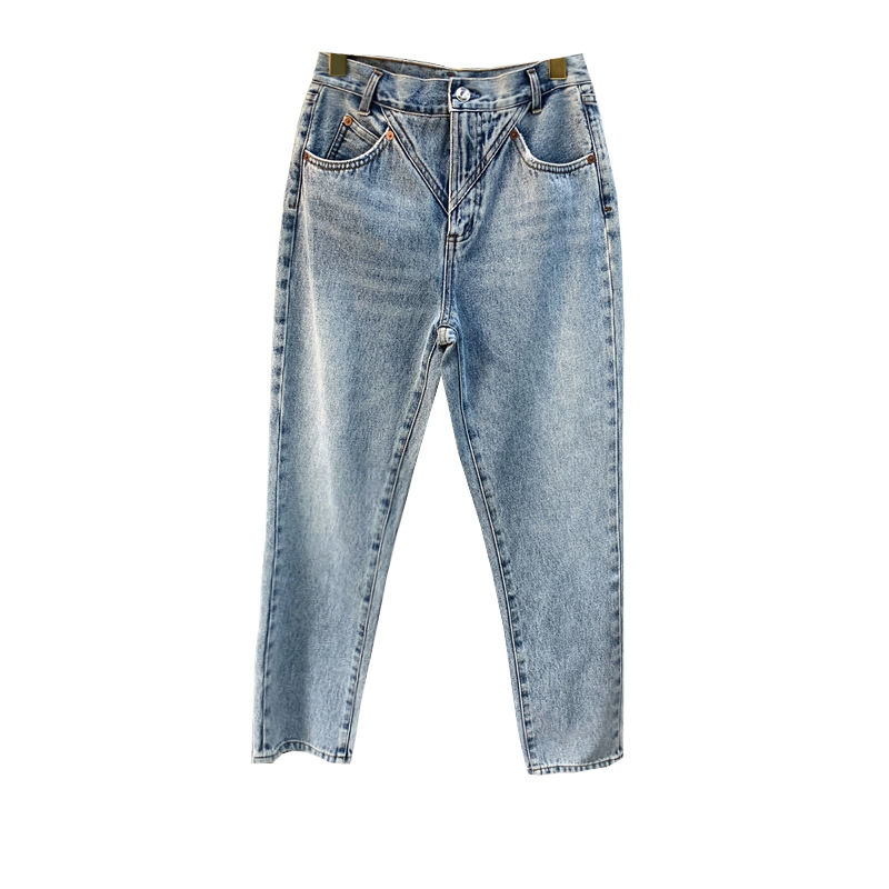 Women Jeans Pants 2020 Spring And Summer Trousers Washed Light Long Pant Women