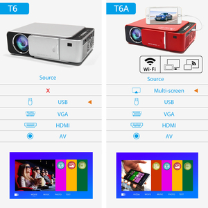 Image 3 - TouYinger T6 Portable HD LED Projector HDMI ( Android Wifi Optional ) Video Beamer Support 4K Full HD 1080p Home Theater Cinema