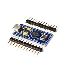 Novo pro micro para arduino atmega32u4 5v/16mhz módulo com 2 linha pino encabeçamento para leonardo em estoque. Melhor qualidade