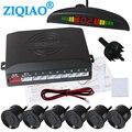 Автомобильный радар-детектор  комплект системы монитора  6 датчиков  зуммер  подсветка  светодиодный дисплей  радар  звуковой сигнал  индика...