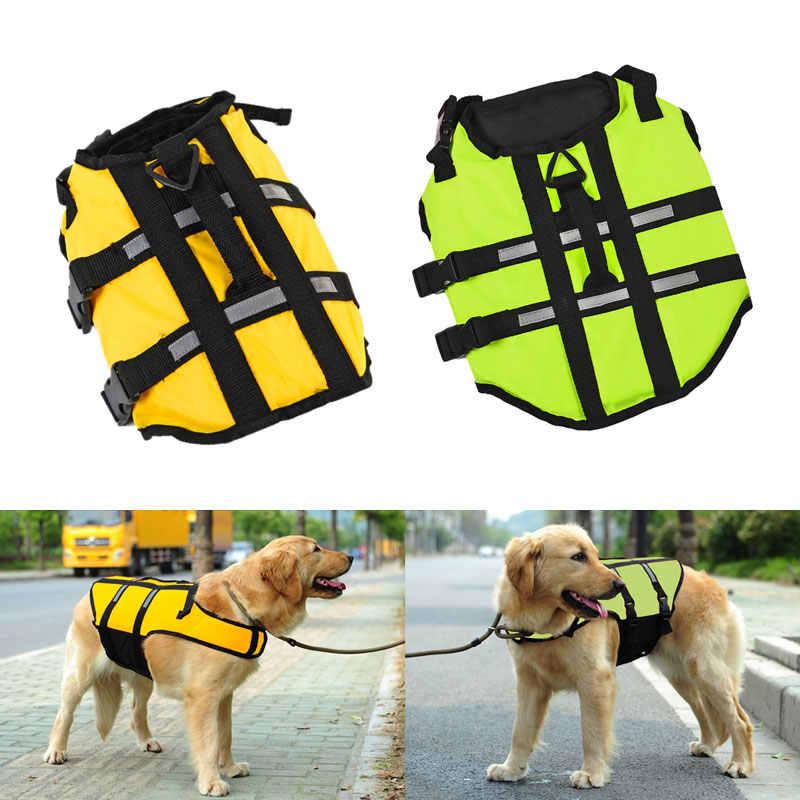 Спасательный жилет для собаки, летний спасательный жилет для домашнего животного, одежда для собак, жилет для собак, безопасность домашних животных, костюм для плавания, желтый/зеленый