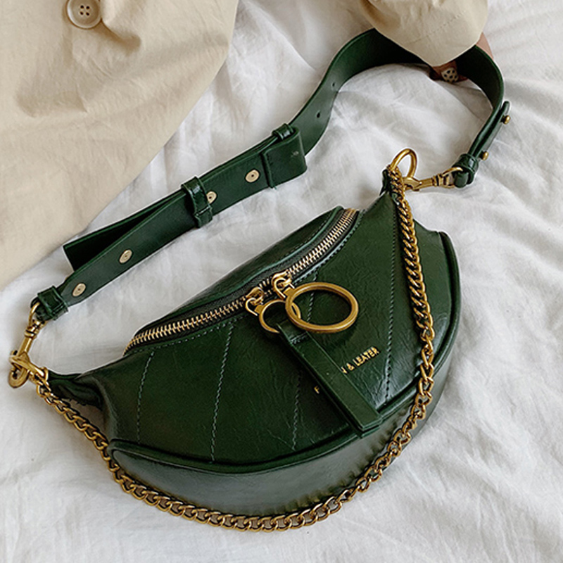 DORANMI Luxury Brand Designed Waist Bag Chain Strap Fanny Pack 2019 Women's Waist Packs Bag Crossbody Chest Bag Nerka DJB959