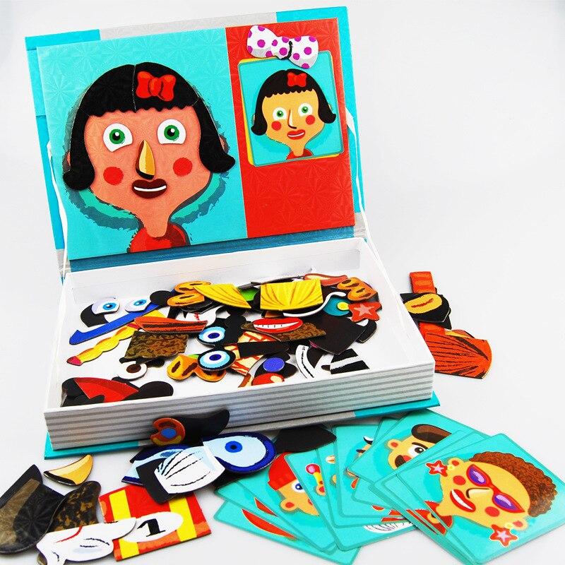 Nouveau Puzzle magnétique dessin animé filles Zoo militaire Puzzle jouets d'apprentissage jouets pour enfants Puzzle magnétique
