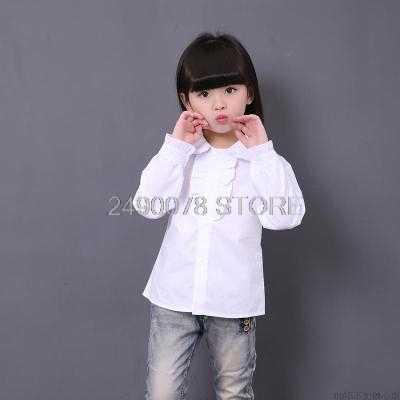 Adolescente Blusas Brancas Para Meninos Meninas Roupas Formais Colarinho Turn-Down Camisas Arco Meninas Uniformes Escolares Meninas Estilo Preppy blusas