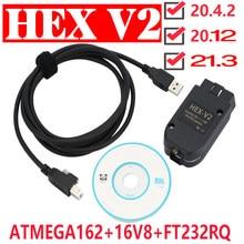 2021 VCD-S hex v2 relação vagcom 21.3 vag com 20.12 para vw para audi skoda seat vag 20.4 multi-idioma diagnóstico do carro