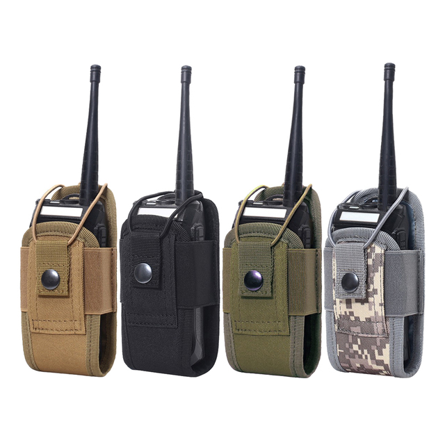 Tactical Molle Radio Pouch Military Walkie Talkies Holster Bag Waist Bag Holder Pocket Interphone Holster Carry Bag For Hunting 1