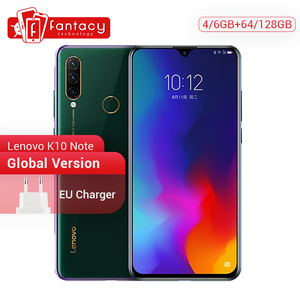 Global Version Lenovo K10 Note (Z6 Lite) Snapdragon 710 Octa Core Smartphone 6.3 Inch Triple Camera Android 9.0 Quick Charge