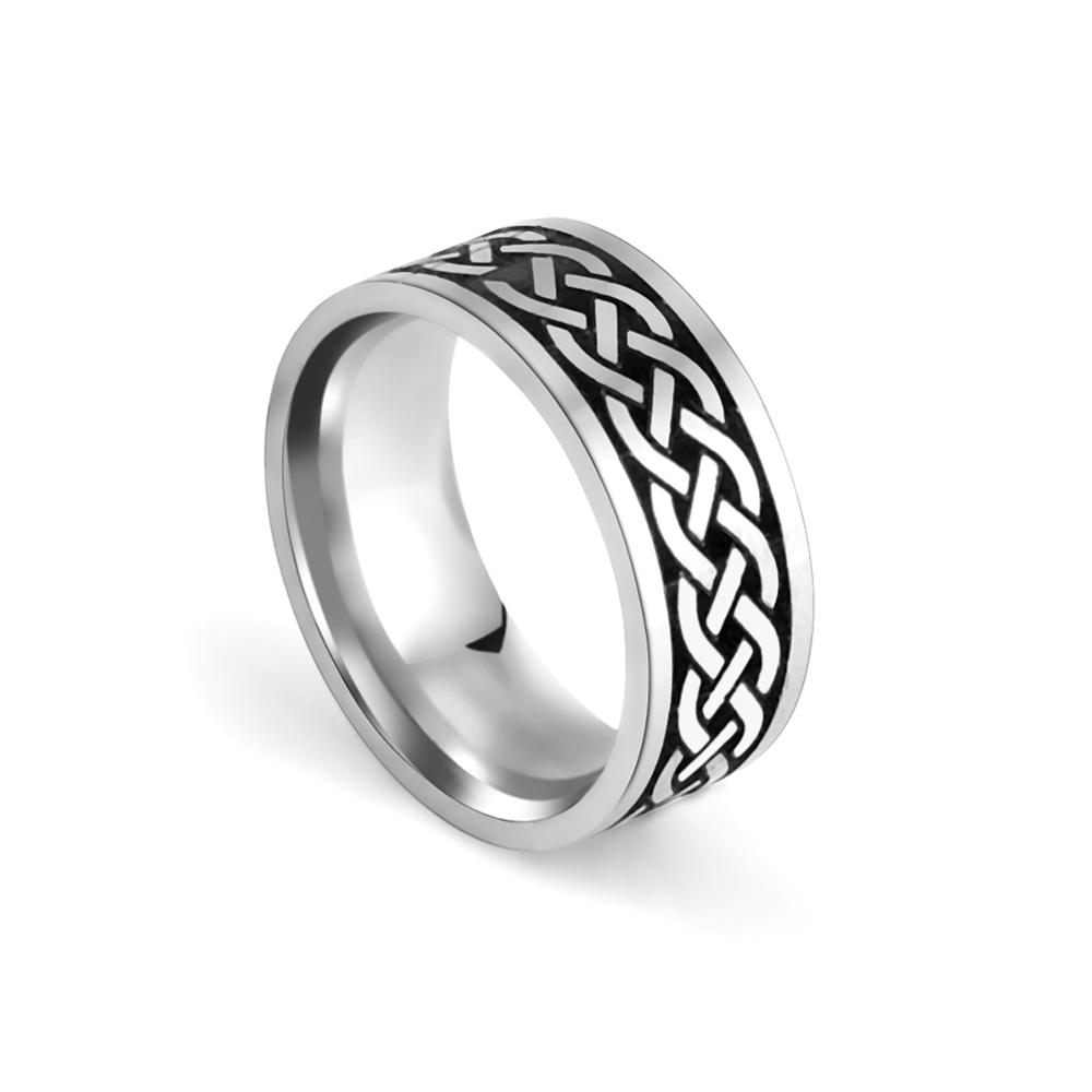 Skyrim Vintage düğüm paslanmaz çelik erkek yüzük basit serin rahat parmak yüzükler parti takı nişan yıldönümü hediyesi 2021 yeni