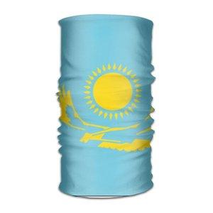 Уличный шарф с флагом Казахстана, 12 дюймов, повязка на голову, повязка на голову, маска на шею, повязка на голову