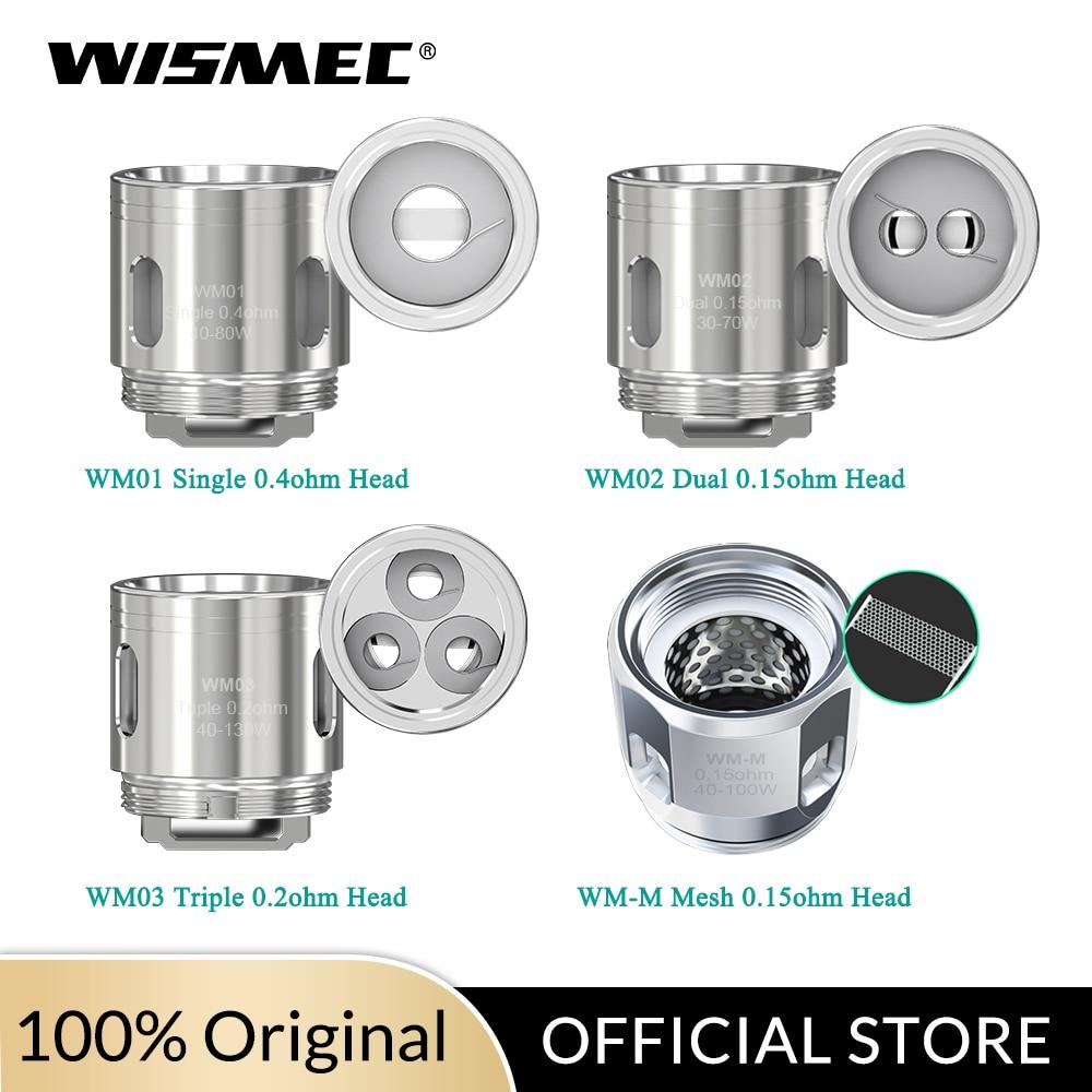 Original Wismec WM01 Single 0.4ohm /WM02 Dual 0.15ohm  /WM03 Triple 0.2ohm/WM-M Coil Head For Gnome Kit