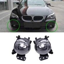1 Pair LED Car Front Fog Lights Assembly Lamps Housing Lens Halogen Bulb Fog Light  For BMW E60 E90 E63 E46 323i 325i 525i цена