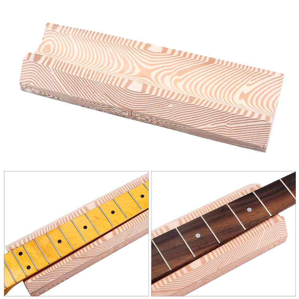 Instrumento Musical Luthiers herramienta guitarra cuello dedo soporte U-Bloque espuma grano de madera