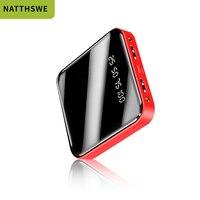 NATTHSWE mi ni Power Bank 10000mAh Für iPhone 7 Xiao mi mi Power Pover Bank Ladegerät Dual Usb Ports externe Batterie Power