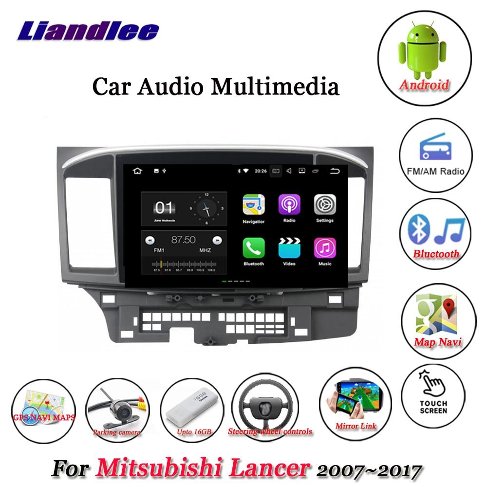 Liandlee автомобильная система Android для Mitsubishi Lancer 2007 ~ 2017 стерео радио видео GPS карта Navi навигация Мультимедиа без DVD плеера