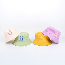 Facial Express Baby Winter Hat For Kids Double Side Colorful Bucket Warm Hats Beanies Cute Caps Hair Accessories
