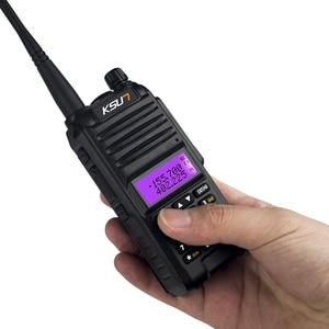 Image 3 - KSUN X UV1D Walkie Talkie 8W VHF UHF Dual Band 136 480MHz Two Way Handheld Communicator Ham Radio HF Transceiver CB Radio