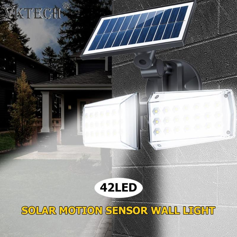 42 LED Outdoor Wall Light Waterproof Infrared PIR Motion Sensor Solar Lamp Solar Powered Sunlight Garden Decoration