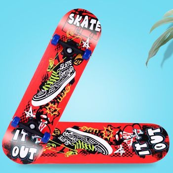 цена на 80cm Maple Skateboard Unique Outdoor Sport Durable With Pu Rubber Printed Skateboard Deck Longboard Skating Penny Skate Board