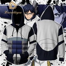 My Hero Academia Todoroki Shoto Cosplay Hoodies 3D Printed Zip-up for Men and Women Sport Sweater