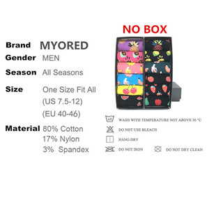 Image 5 - MYORED 12 pairs / lot colorful For mens cotton funny winter Warm fruit socks novelty Fashionable mens wedding sock gift NO BOX