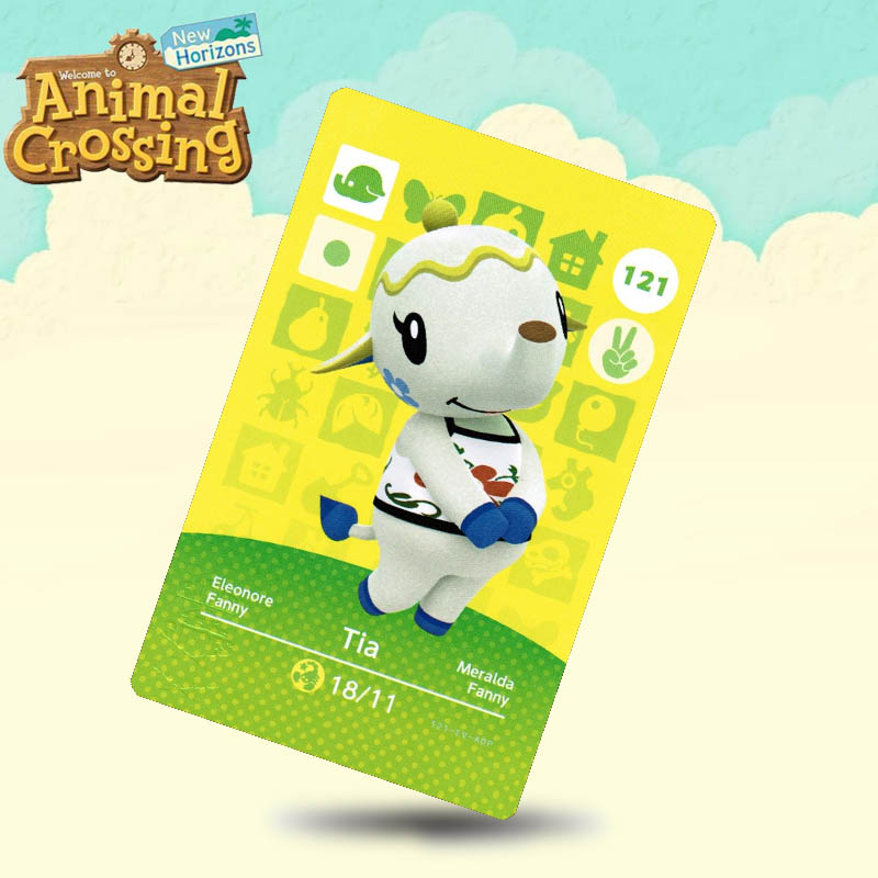 121 Tia Animal Crossing Card Amiibo Cards Work For Switch NS 3DS Games