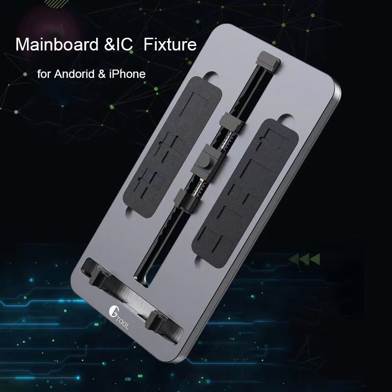 GTOOL Universal Motherboard Fixture Ultra Quality Metal PCB Holder for iPhone Android IC Chip <font><b>NAND</b></font> PCIE Repair Clamp image