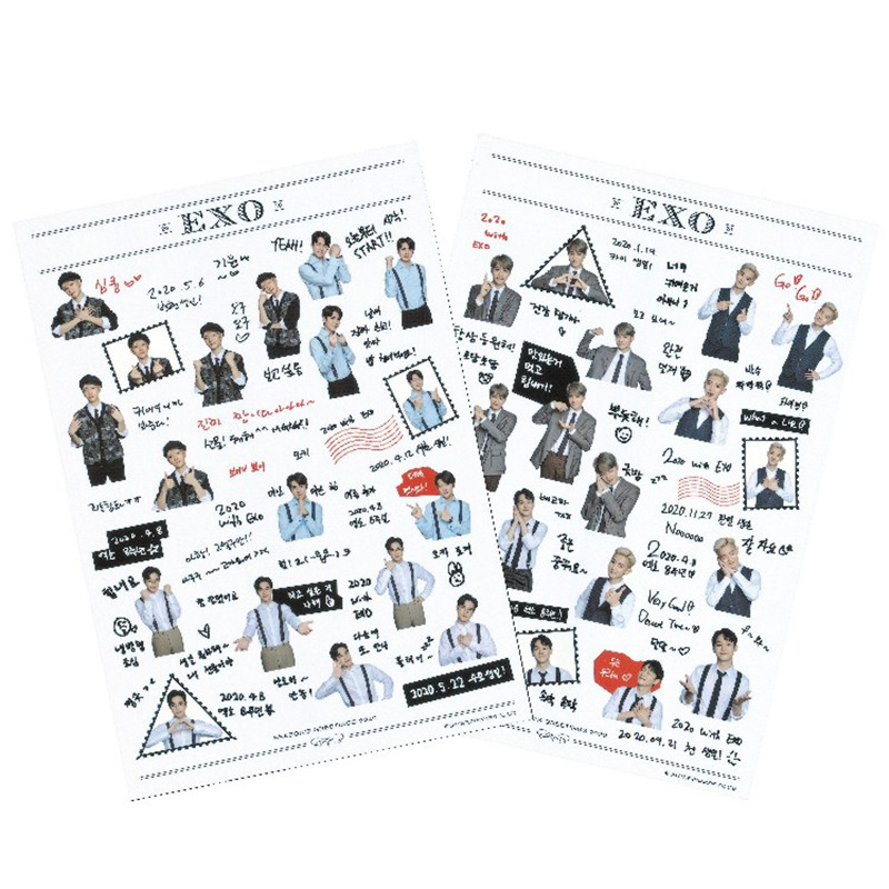 KPOP EXO NCT127  Stickers Exploration Obsession Stickers XIUMIN SUHO  LAY Baekhyun CHEN CHANYEOL D.O. Jh371