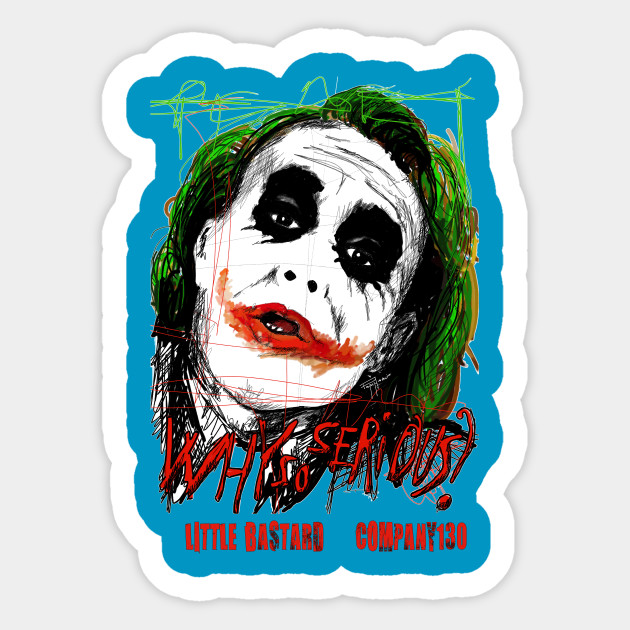 1 pcs 10cm×10cm joker why so serious funny Waterproof Decal Motorbike Helmet Laptop Decoration Car Sticker Accessories image