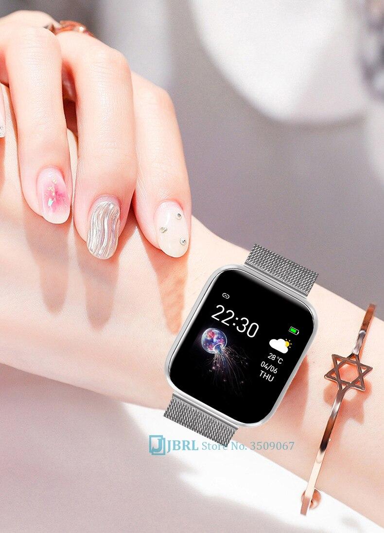 Hef3d74052a074a65afc6c2ed1aff3d12H 2021 Ladies Sport Bracelet Smart Watch Women Smartwatch Men Smartband Android IOS Waterproof Fitness Tracker Smart Clock Mens