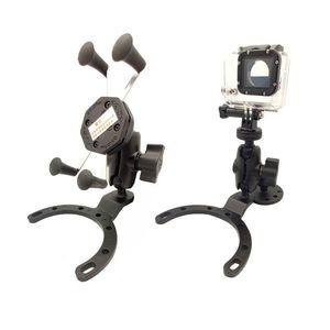 Image 2 - オートバイガスルモーターサイクルタンクマウントの gps 携帯電話のカメラブラケットホルダー川崎ホンダキット