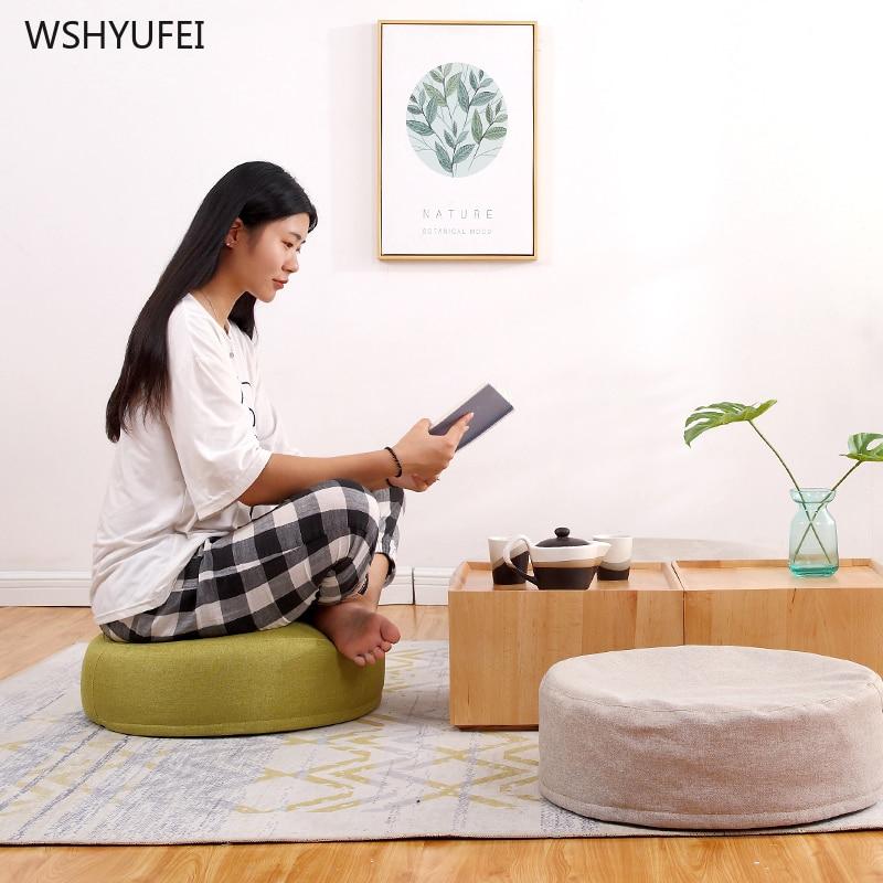 Japanese Lazy Cushions Futon Cushions Thickening Sitting Pier Window Cushions Home Round Bedroom Meditation Mat Yoga Mat