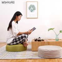 Japonês preguiçosos almofadas almofadas futon espessamento cais sentado almofadas janela casa quarto rodada mat meditação yoga mat