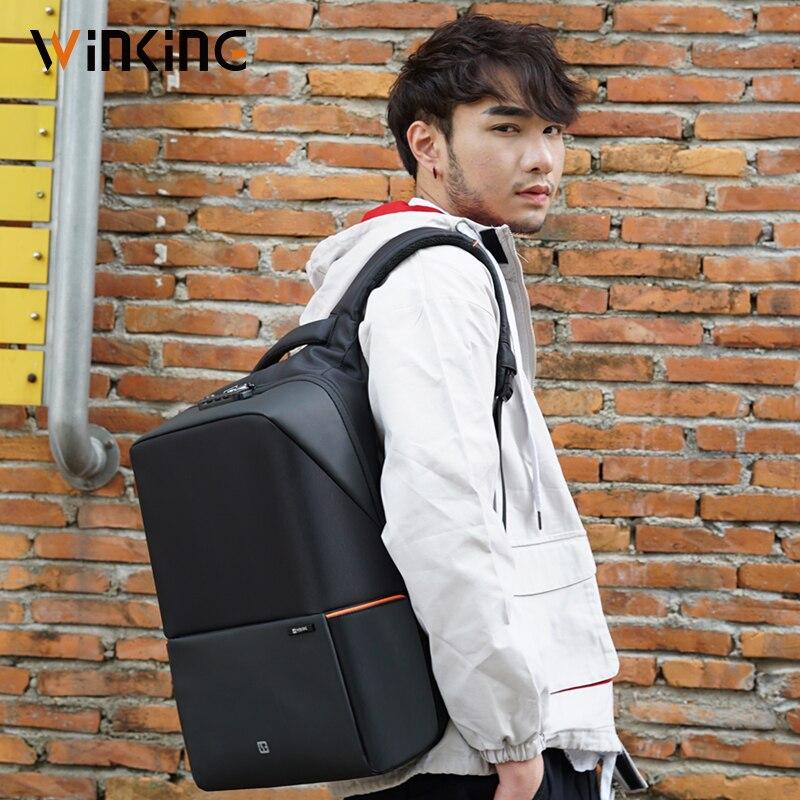 Kingsons anti ladrão bagpack com bloqueio tsa 15.6 polegada mochila para portátil para feminino & masculino saco de escola viagem mais novo