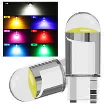new Super Bright W5W 194 T10 LED Glass Housing Cob Car Bulb 6000K White Green Blue Red Wedge License Plate Lamp Dome Light