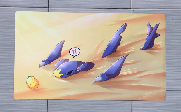 Takara Tomy PTCG Accessories Pokemon Playmate Card Table Game Garchomp Toys For Children