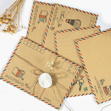 8pcs/lot Cute Vintage Kraft Paper Envelope B6 Postcard Letter Stationery DIY office school supplies