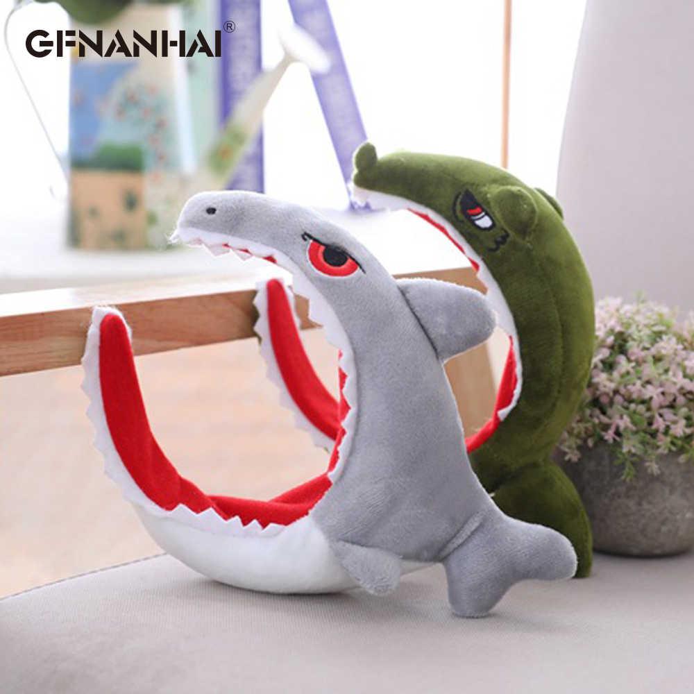 1pc 22CM Dinossauro kawaii & Shark Cabeça Brinquedos Dos Desenhos Animados Do Bebê Da Foto Adereços Boneca de Pelúcia Bicho de pelúcia Brinquedo de Aniversário presente para As Crianças