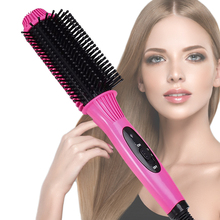 Get more info on the 2 in 1 Anion Fast Heat Curler Hair Straightener Electric Hair Comb Brush Straightening Irons Multifunction Salon Curling Tool
