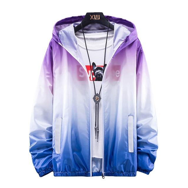 Plus Size 6XL 7XL New Spring Summer Bomber Jacket Men Women Casual Solid Windbreaker Zipper Thin Hooded Coat Outwear Male Jacket 1