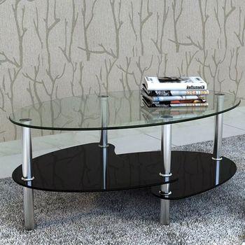 vidaXL Coffee Table with Exclusive Design Black
