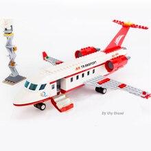 Sluban 0370 Stad Serie Luchtvaart Medische Ambulance Vliegtuigen Truck Auto Cijfers Educatief Bouwstenen Speelgoed Voor Kinderen Gift