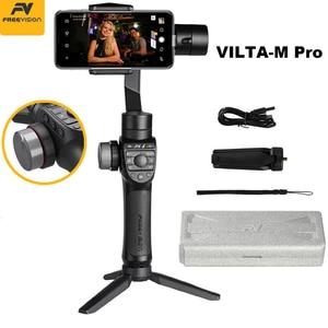 Image 1 - במלאי Freevision Vilta M פרו 3 ציר כף יד Gimbal Smartphone מייצב עבור Huawei P30 פרו IPhone X XS סמסונג Gopro 5/6/7